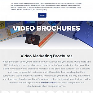 Video Brochure Manufacturer