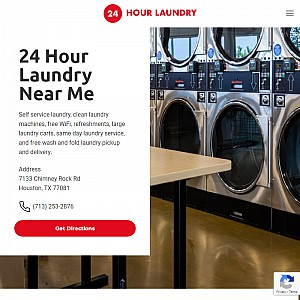 24 Hour Laundry & Washateria, Commercial Laundry in Houston TX