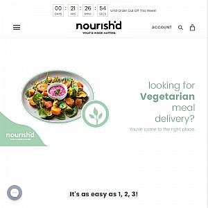 Nourish'd Vegetarian Meals Delivered