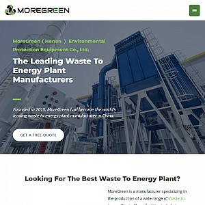 A Variety of WtE Equipment for Sale - MoreGreen