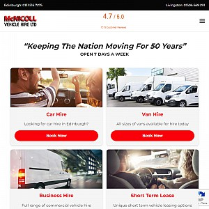McNicoll Vehicle Hire - Car Rental & Van Hire Edinburgh