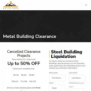 steel buildings on clearance