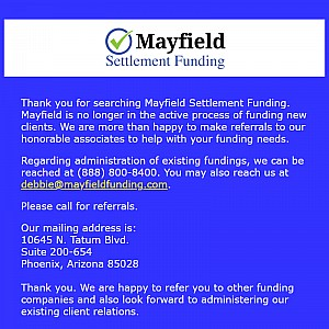 Mayfield Lawsuit Cash Advances & Loans