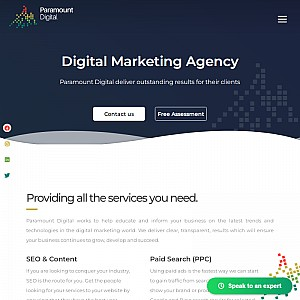 Award Winning Digital Marketing Agency - Paramount Digital