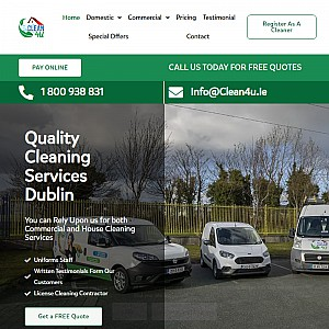 CLEAN 4 U – CLEANERS DUBLIN, PROFESSIONAL HOUSE CLEANING COMPANY.