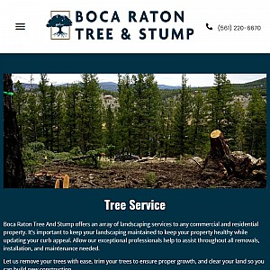 Boca Raton Tree and Stump