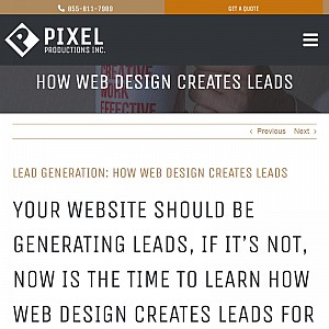 How Web Design Creates Leads