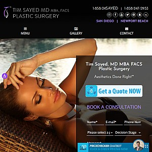 San Diego & Orange County Plastic Surgery - Tim Sayed, MD, MBA, FACS