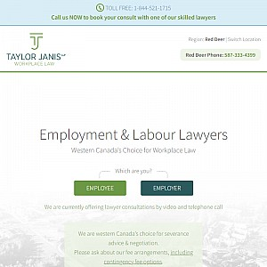 Taylor Janis LLP Employment Lawyers Red Deer