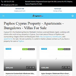 Paphos Cyprus Real Estate Agents Helping Property Buyers & Sellers