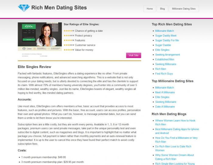 dating sites for the rich Reviews of the best rich men dating sites and millionaire dating sites choose the right website to meet rich men who are looking for love and marriage.