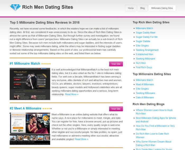 Dating site to meet rich people