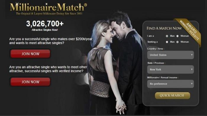 Dating website for wealthy