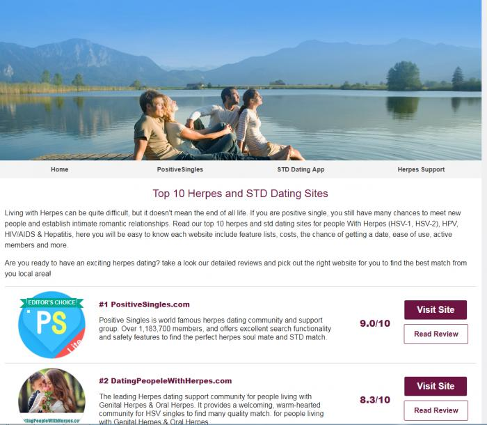 Dating website with stds
